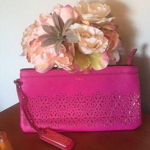 Ralph Lauren Bags - Ralph Lauren pink clutch
